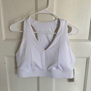 NWT NWT Fabletics Mila Midi medium impact white sports bra size L